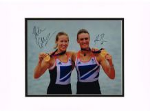 Helen Glover and Heather Stanning Autograph Signed Photo - Rowing